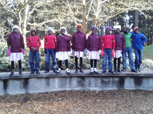 The choir at the park!